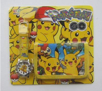 """Vaikiškas Dovanų rinkinys: piniginė ir laikrodis """"Geltoniukas"""""""
