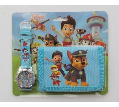 """Vaikiškas Dovanų rinkinys: piniginė ir laikrodis """"Paft"""""""