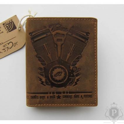 """Vokiška vintažinė piniginė RFID """"Moto"""""""