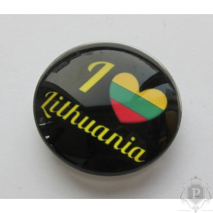 "Stiklinis magnetas ""I love Lithuania"""