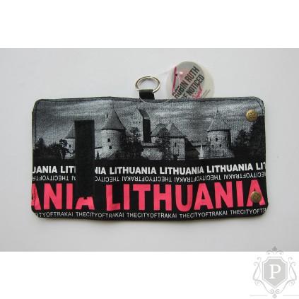 """Piniginė su Lietuvos atributika """"Trakai"""""""