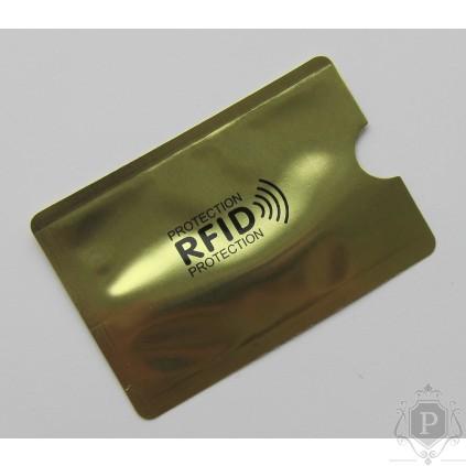 RFID dėklas - apsauga bekontaktėms kortelėms Gold