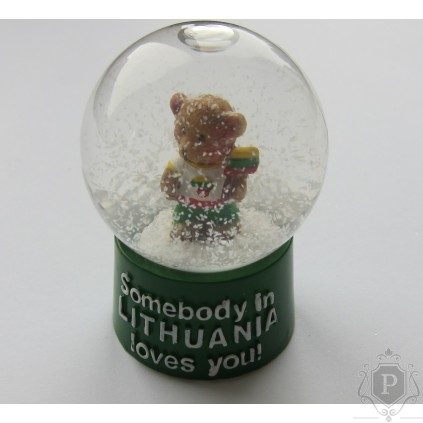 """Statulėlė sniego burbulas """"Bear Loves"""""""