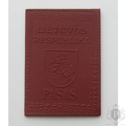 """Rankų darbo lietuviškas paso dėklas """"LT-red"""""""