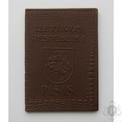 """Rankų darbo lietuviškas paso dėklas """"LT-caram"""""""