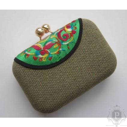 """Šventinė delninė (rankinukas) su auksiniu dirželiu """"Adelė"""""""