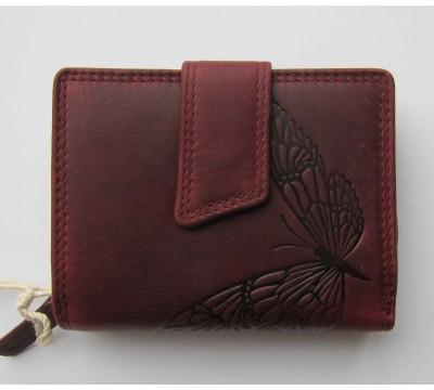 """Vokiška piniginė RFID su drugeliu """"Avietė"""""""
