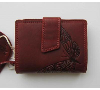 """Vokiška piniginė RFID su drugeliu """"Braškė"""""""