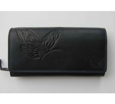 """Vokiška piniginė su drugeliais RFID """"Laimė"""""""