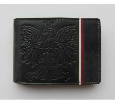 """Odinė piniginė su erelio herbu RFID """"Belair"""""""