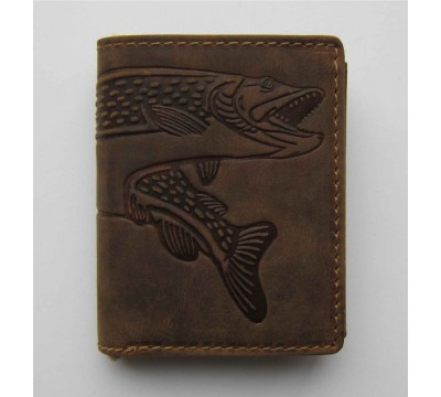 """Vokiška piniginė su žuvies atvaizdu RFID """"Lydeka"""""""