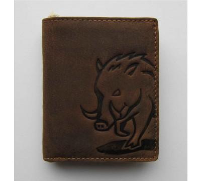 """Vokiška piniginė su šerno atvaizdu RFID """"Lukso"""""""