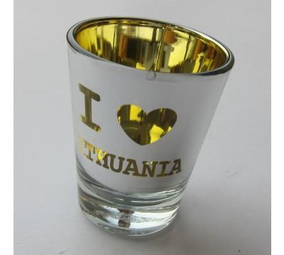 "Stiklinė taurelė ""I Love Lithuania"""