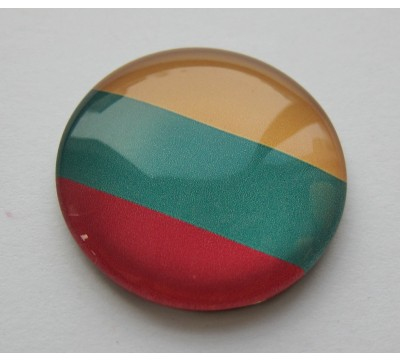 "Stiklinis magnetas ""Trispalvė"""