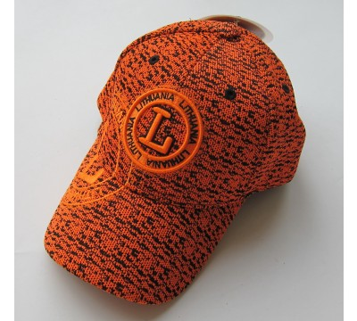 Oranžinė kepurė su snapeliu Lithuania