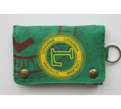 """Vaikiška piniginė su karabinu """"LT Green"""""""