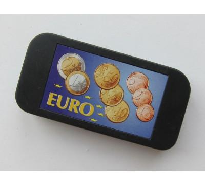 """Plastikinis dėklas monetoms """"Eurams"""""""