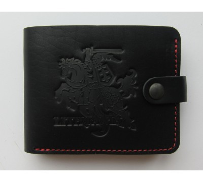 """Lietuviška piniginė su raudonu siūlu """"Skydas"""""""