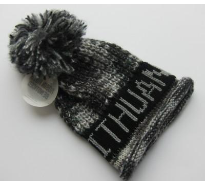 Žieminė kepurė su bumbulu Lithuania grey
