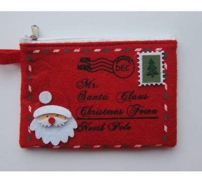 Kalėdinė piniginė - laiškas Santa Claus Red