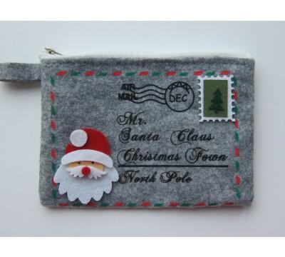 Kalėdinė piniginė - laiškas Santa Claus Grey