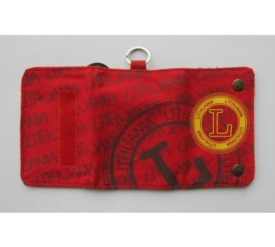 """Piniginė su lietuviška atributika """"LT Red"""""""