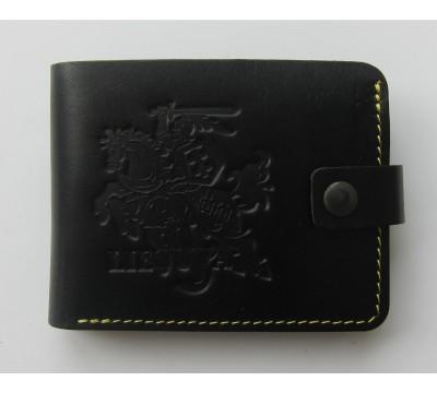 """Lietuviška piniginė su geltonu siūlu """"Patrikas"""""""