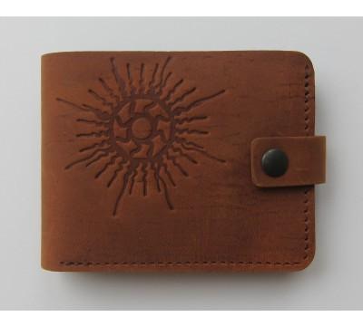 """Lietuviška piniginė su saulės simboliu """"Saturnas"""""""