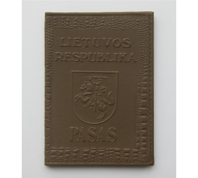 """Rankų darbo lietuviškas paso dėklas """"LT-cream"""""""
